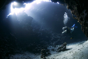 The Cave, Red Sea, Egypt. by Jim Garland